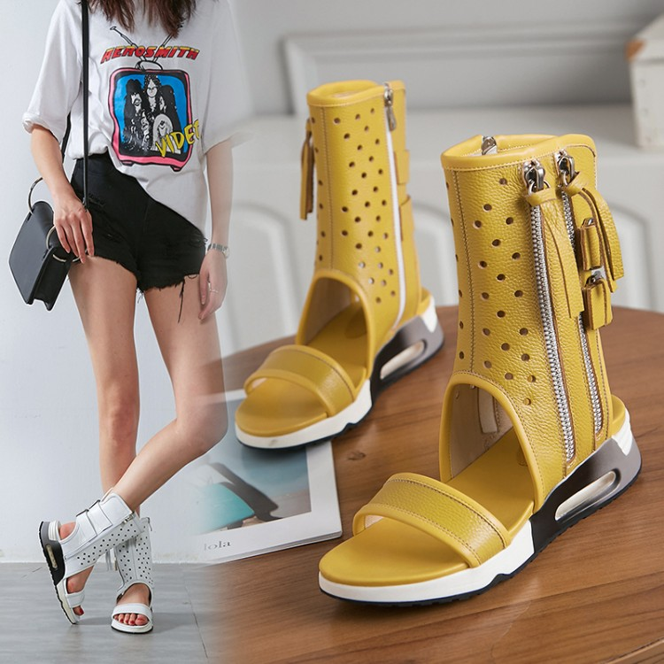 Genuine Leather flat Hollow summer boots women ankle boots Rome Gladiator sandals Cool boots Fashion breathable Womens footwearGenuine Leather flat Hollow summer boots women ankle boots Rome Gladiator sandals Cool boots Fashion breathable Womens footwear