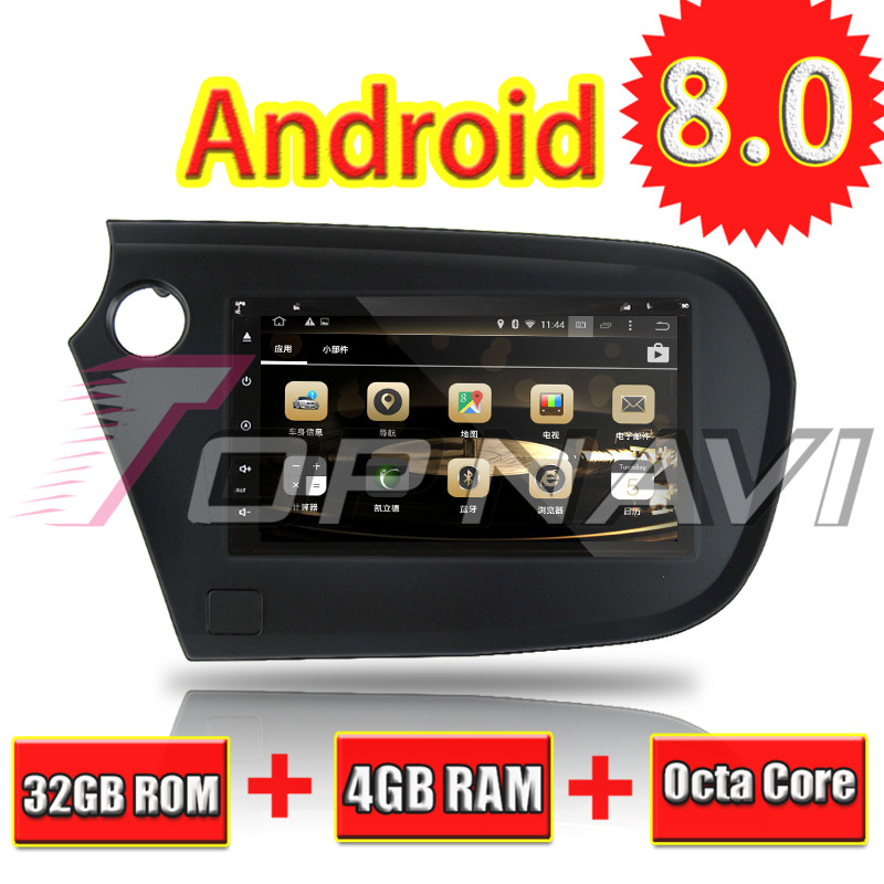 Topnavi 7 Octa base Android 8.0 DVD de Voiture Lecteur Multimédia pour HHONDA Insight 2010-Autoradio GPS Navigation Stéréo bluetooth