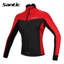 Santic Women Cycling Jacket Bike Racing Spring Fleece Cycling Jackets Windproof Cycling Clothes Ciclismo Jersey L5C01058R