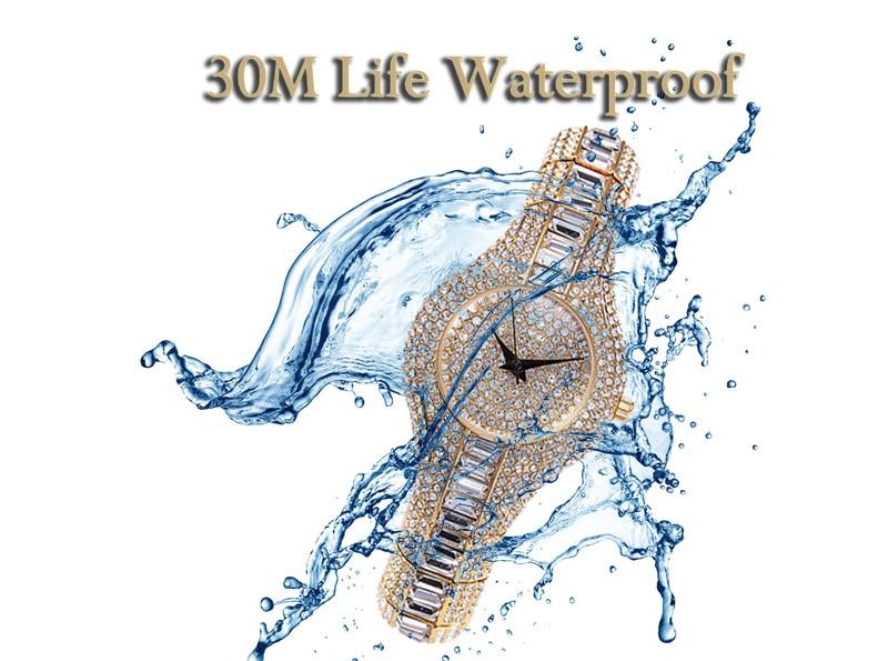 30mm Small Womens Watch Shockproof Waterproof Luxury Ladies Ar Metal Watch bracelets Rhinestone - womens-watches