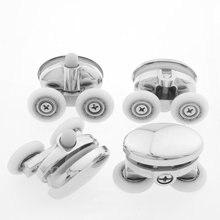 Set of 4 Double Butterfly Shower Door ROLLERS /Runners /Wheels 23mm diameter