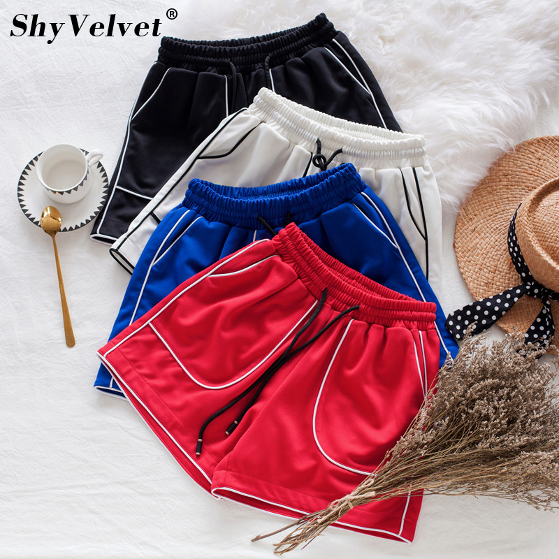 Women Harem Short short Feminino Sweatshorts Drawstring High Elastic Waist Short Sweatpa ...