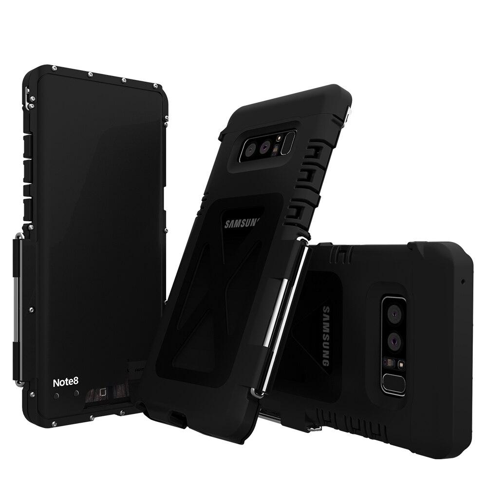 Cavalletto In Metallo 304 Caso di Vibrazione Per Samsung Galaxy Note 8 Antiurto Nota8 Sport Copertura Della Cassa Del Silicone di Plastica Guscio Sottile