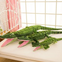 Large Simulation Crocodile Plush Toy Crocodile Toy Stuffed Pillow Cushion Children's Day Gift Christmas Doll Best Gift For Kids