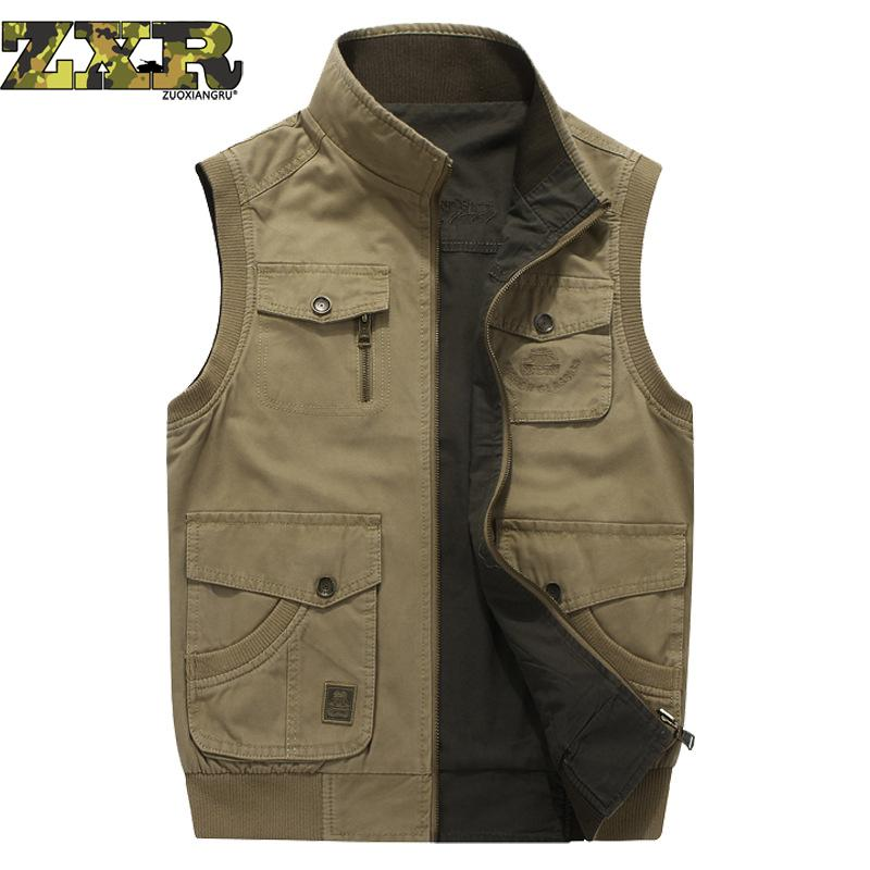 Zuoxiangru Hiking Tactical Vest Fishing Vest Men s M 6xl Multi Pockets Photography Jacket Camping Multi