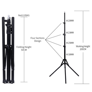 Image 2 - Professional Adjustable 1.84M Light Stand Tripod With 1/4 Screw Head For Photo Studio Flashes Photographic Lighting Softbox