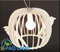 A gaiola de ferro luz pingente Modern lâmpada gaiola abajur café restaurante sala de jantar pendurado luminária