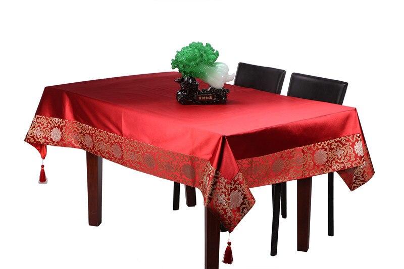 Običan patchwork tapiserija kineski ukrasni stolnjak pravokutni - Tekstil za kućanstvo - Foto 1