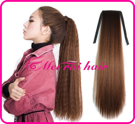 Fashion hair accessories 28 Long curly synthetic hair jewelry bundled Ponytail hairwear extension free shipping