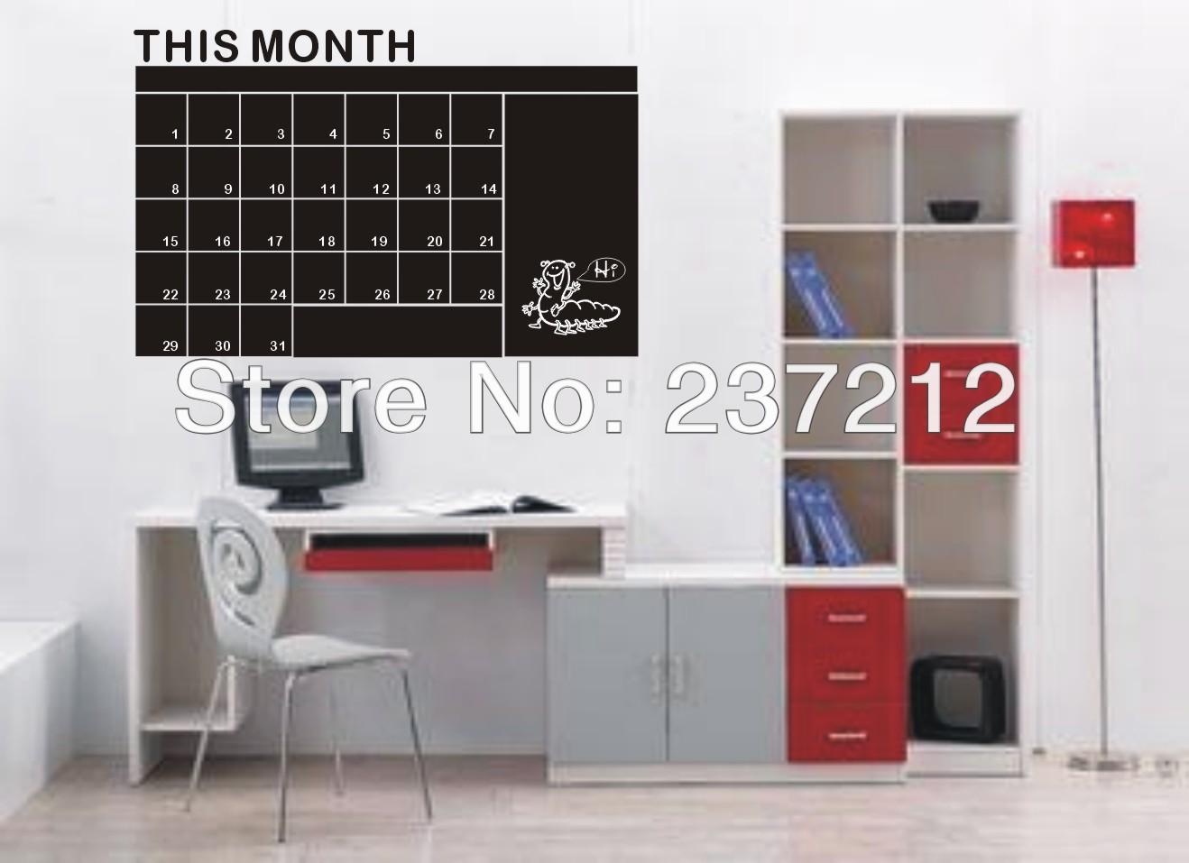 diy calendario pizarra mensual pared del vinilo removible wallpaper planner mural de regalo para nios de