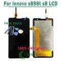 1/pcs herramientas gratuitas pantalla lcd para lenovo s898t s8 con pantalla táctil digitalizador asamblea reemplazo envío gratis