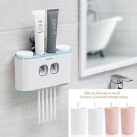 CENSROOM 2019 Многофункциональный 4 чашки держатель зубной щетки дозатор для зубной пасты Креативные аксессуары для ванной комнаты