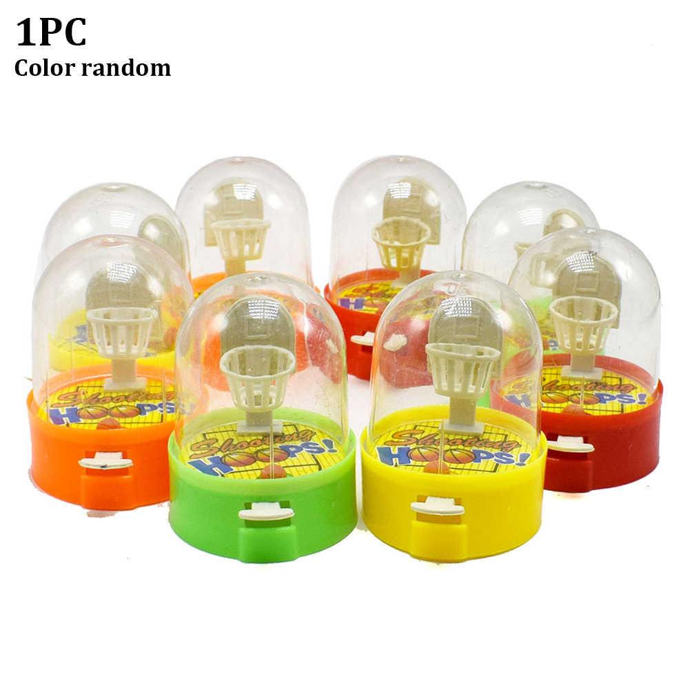 Мини детские подарки, пальчиковые баскетбольные игрушки, мячи для стрельбы, пластиковые, разные цвета, Ручные игры, отпускание давления, милые обручи
