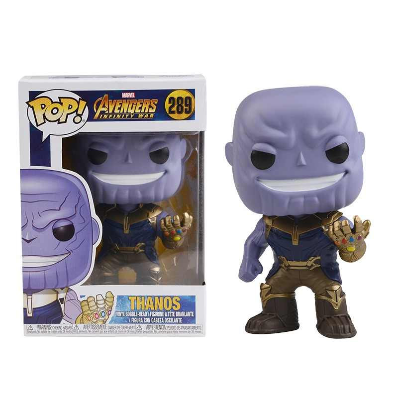 FUNKO POP The Avengers 3: Infinity War & 10cm THANOS pvc action Figures model gift for the children with box