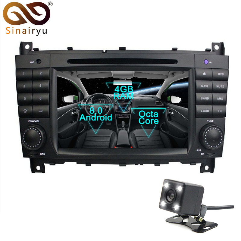 Android 8.0 Car DVD GPS For Mercedes Benz C Class W203 2004-2007 c200 C230 C240 C320 C350 CLK W209 2005 Sat Navi GPS Radio eunavi 2 din 9 android 7 1 car radio stereo gps for mercedes benz c class w203 s203 c180 c200 clk class c209 w209 c208 w208