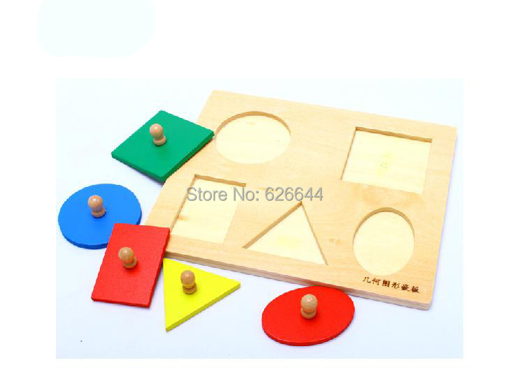 Baby Infant Toddler Material Multiple Shape Wood Puzzles