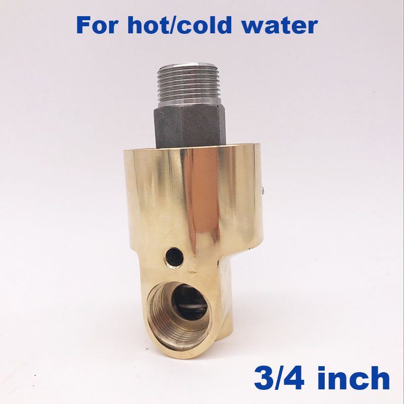 GOGO Left Right hand thread Low high temperature industrial water brass rotary fitting rotating connector 3