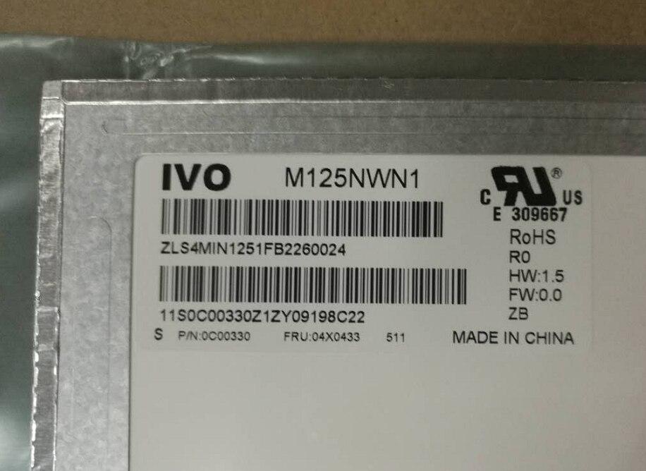 LED Display Panel M125NWN1 R0 M125NWN1 R1 Matrix for Laptop 12 5 HD 1366X768 Matte LCD
