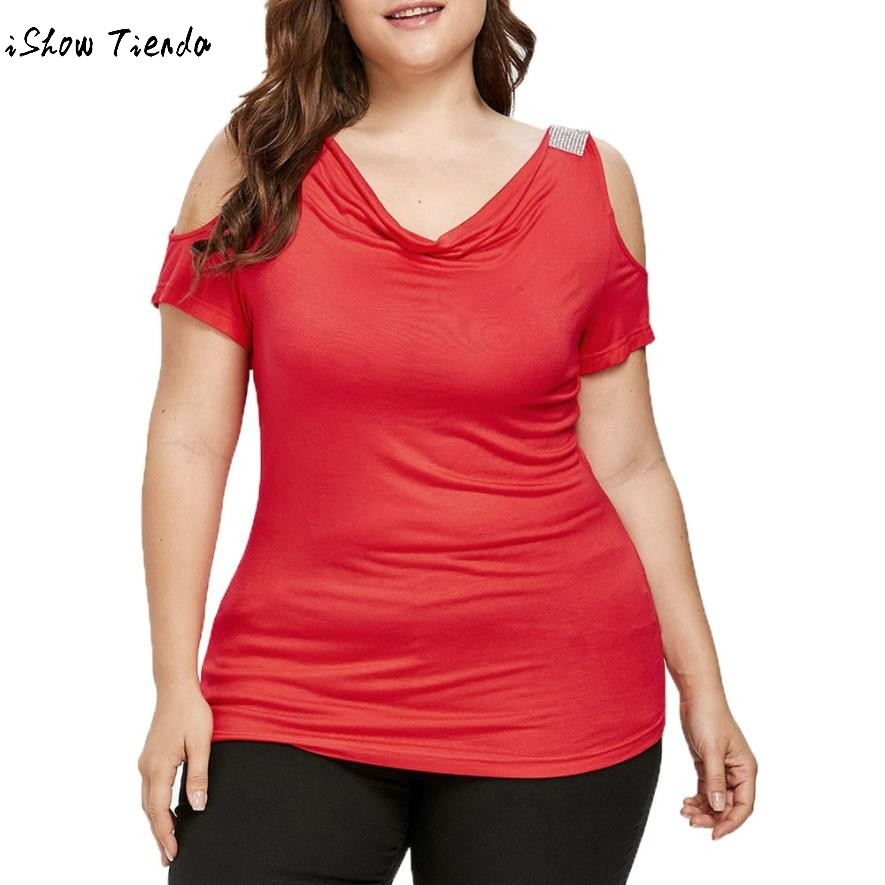 bc05840ac32 Detail Feedback Questions about Women Plus Size Sequins Blouse Bandage  Tunic Lace Splice Patchwork Hollow Top Female Fashion Red Large L  5XLClothes GH on ...