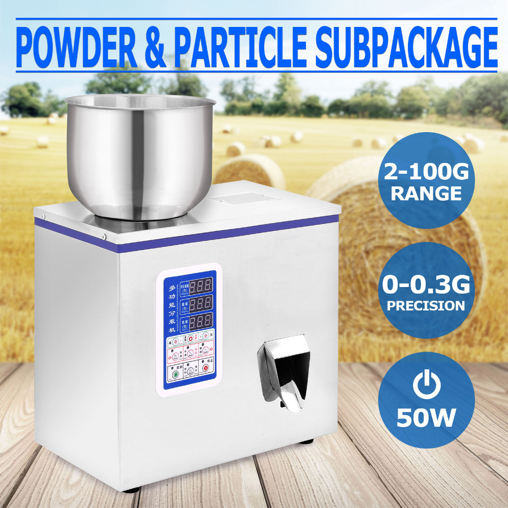 New 100g Small Automatic Particle Subpackage Machine Weighing Filling Device Microcomputer Control Optical Technology