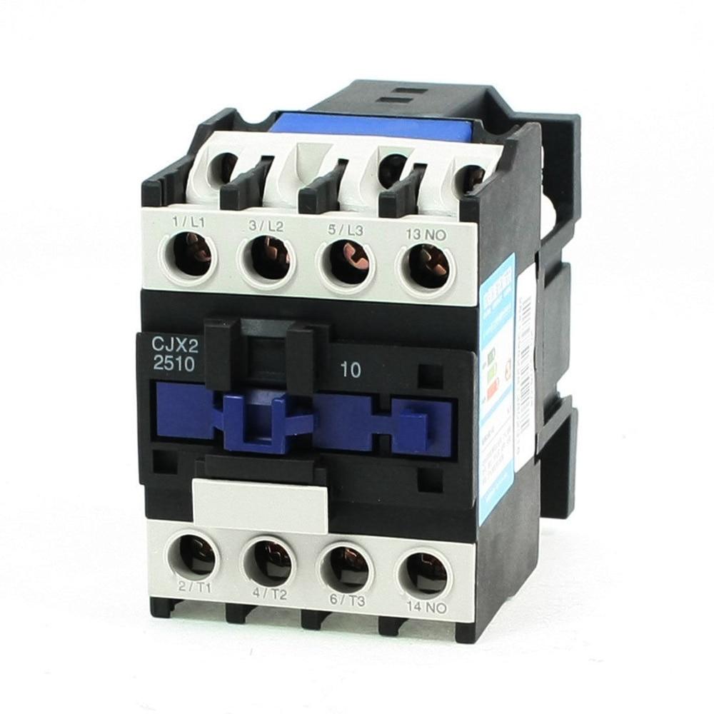 cjx2 2510 ac contactor motor starter relay 3poles 1no