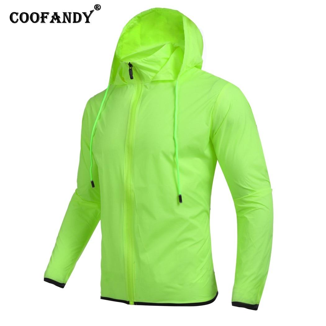 COOFANDY Men Long Sleeve Thin Waterproof Jacket Windbreaker Rain Coat Outerwear Casual Style
