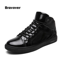 New 2017 High Quality Men Flats Shoes Breathable Fashion High Top Men Casual Shoes Zapatos Hombre Mens Flats