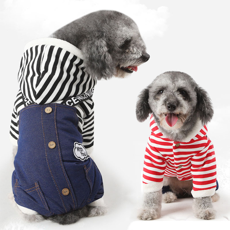 Faithful Dog Coat Costume Christmas Winter Warm Dog Cat Cotton Polyester Clothes Sport Style Cute Stripe Apparel Cool Baseball Uniform Dog Clothing & Shoes