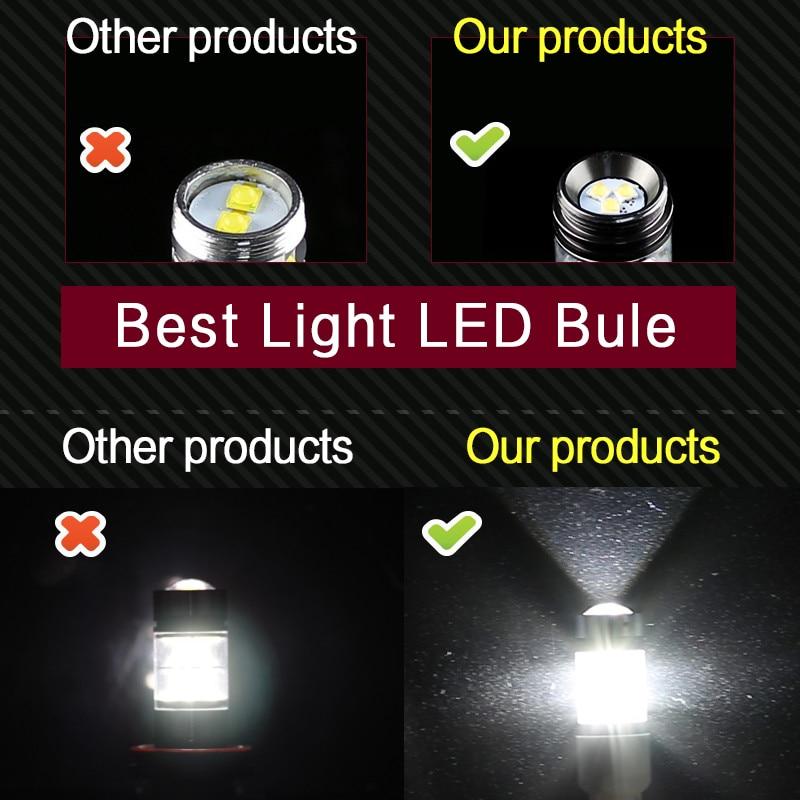 2 * LED žarnica H11 H8 Canbus brez napake z ostrimi žetoni LED - Avtomobilske luči - Fotografija 2