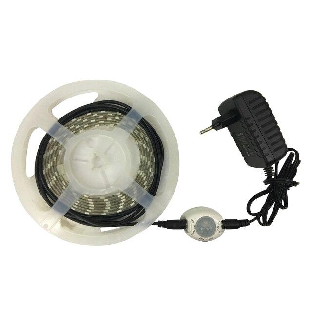 LED Cảm Biến Cơ Thể Nhà Thông Minh Ánh Sáng dải 1 M 2 M 3 M Trắng/Trắng Ấm/Đỏ/ màu xanh/Màu Xanh Lá Cây EU/AU/US/UK Phòng Ngủ Tủ Sách Bé Phòng
