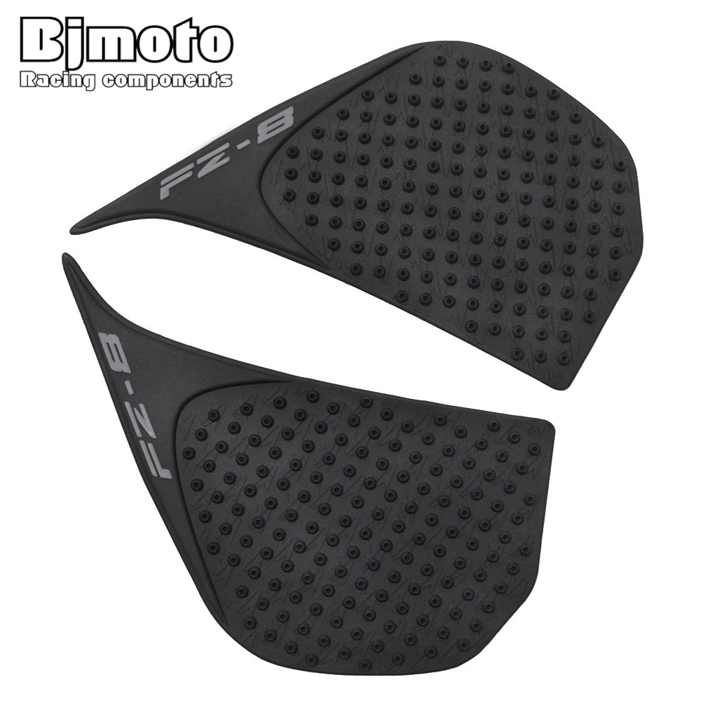Bjmoto For Yamaha Fz8n Fz800 Motorcycle Tank Pad Protector Sticker Decal Gas Knee Grip Tank Traction Pad Side Black Automobiles & Motorcycles Motorcycle Accessories & Parts