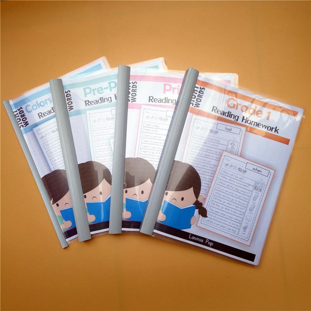 english sight word reading homework paper training book