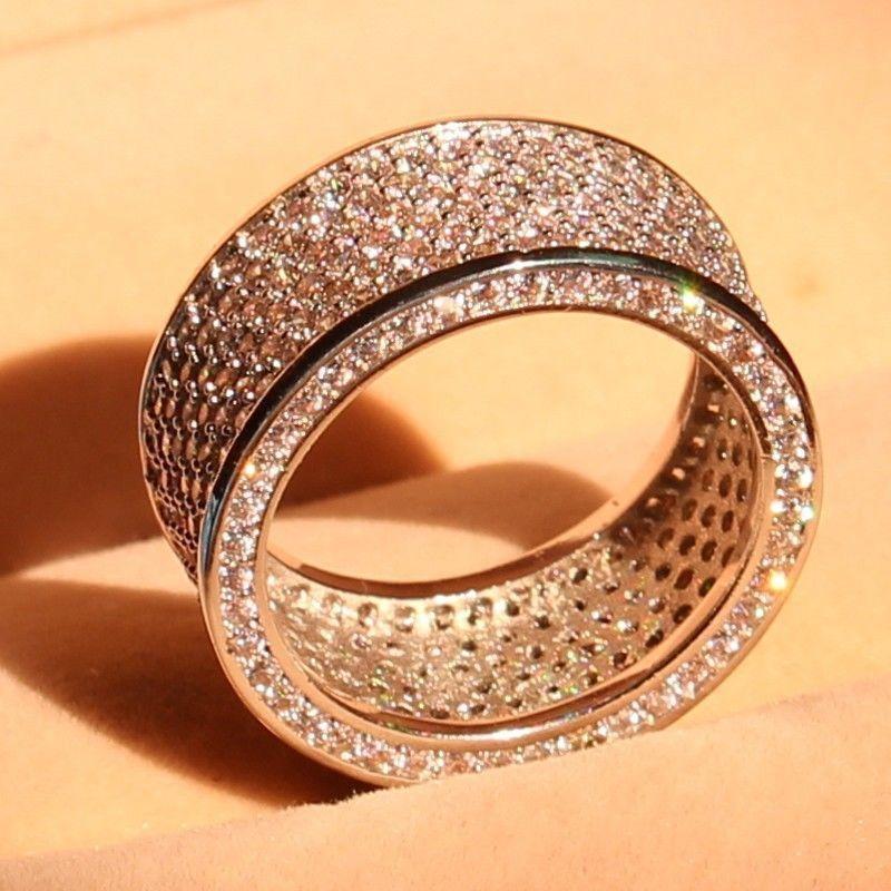 Promovare mare de lux 320pc 5A CZ 10kt aur alb umplut nunta Cercul - Bijuterii de moda - Fotografie 2