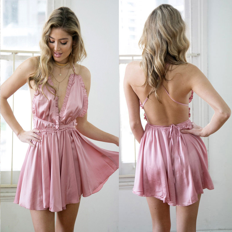 5bb9cf9776c Fashion Women Sexy Sleepwear Style Jumpsuit Rompers Clubwear Playsuit  Trousers 3 color-in Rompers from Women s Clothing on Aliexpress.com