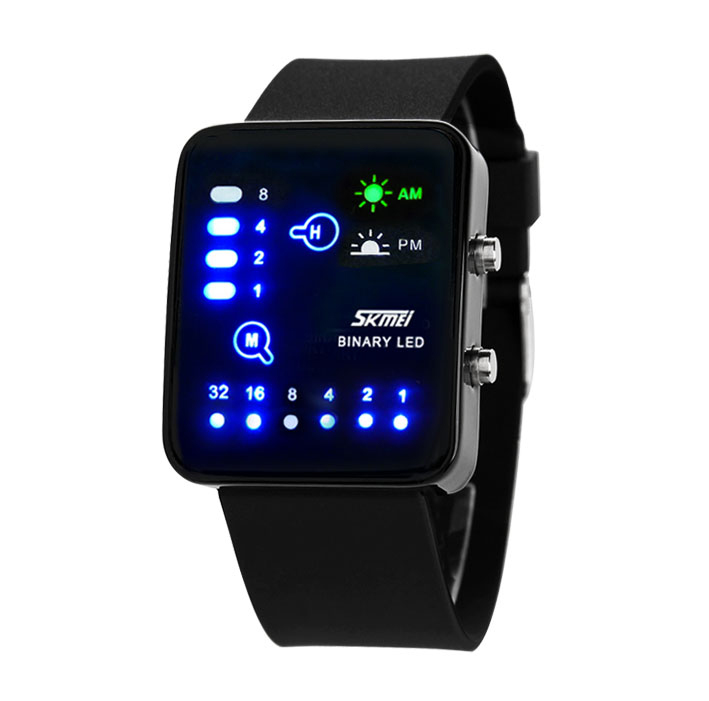Fashion jelly table led waterproof watch tidal current male female electronic watch