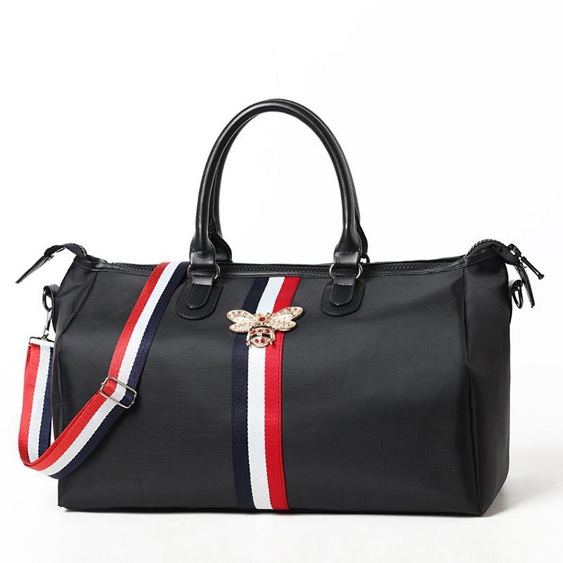 Brand travel bag waterproof large capacity hand luggage travel bee bag fashion women weekend travel handbag fitness sports bag