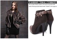 бесплатная доставка осень и зима мода тонкие каблуки - туфли на высоком каблуке - сапоги мартин сапоги одиночные ботинки