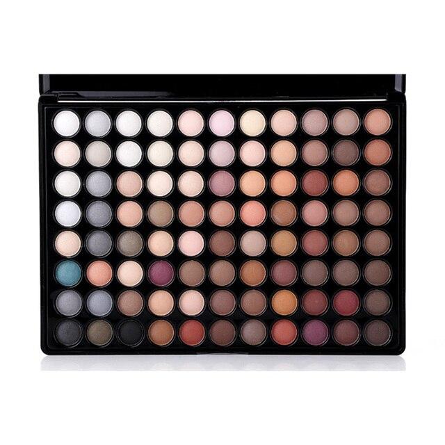 Moda 88 colores completos paleta sombra de ojos tierra Color mate Shimmer ojos Set maquillaje Smokey sombra de ojos profesional con espejo