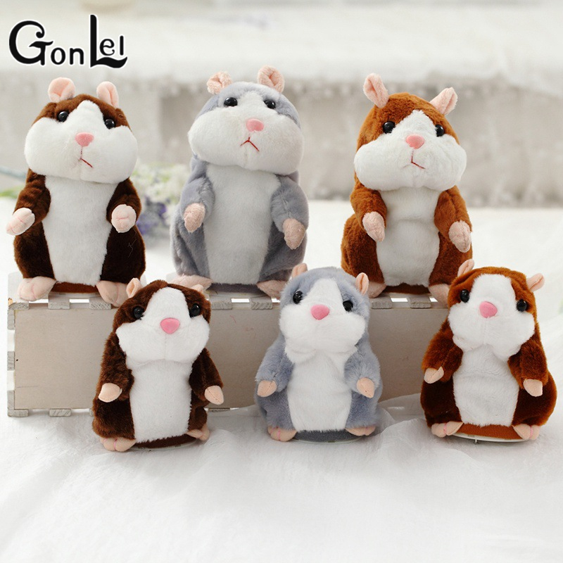 GonLeI 2017 Talking Hamster Mouse Pet Plush Toy Hot Cute Sound Record Hamster Educational Toy for Kids Christmas Gift 16cm