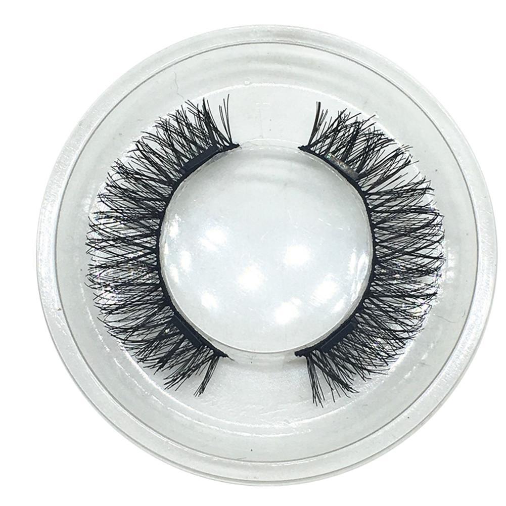 4PCS 3D Double Magnetic False Eyelashes Arc Invisible Natural Ultra-thin Fake Eyelashes Makeup Beauty Party False Eye Lashes