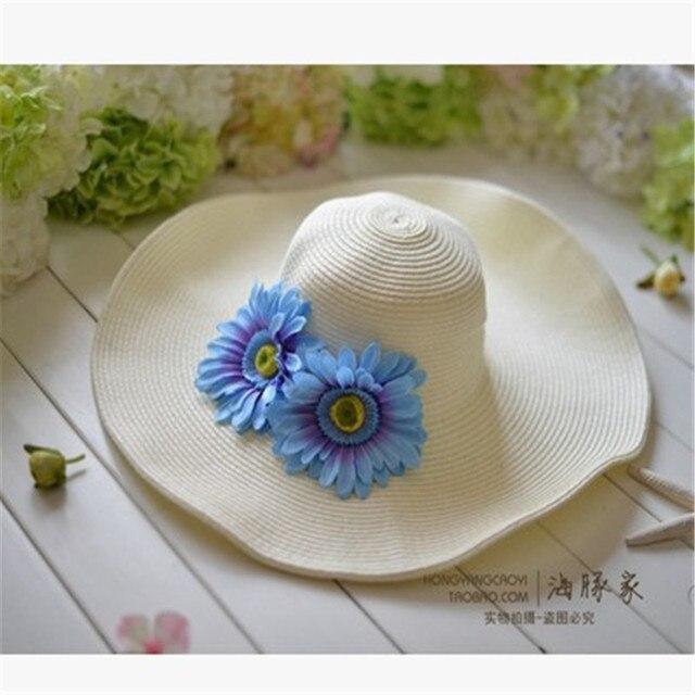 Straw Sun Hats Women Summer Gorras Planas Playa Mujer Hats Garland Beach  Hats Chapeu Feminino Sombreros d54baaf26b0