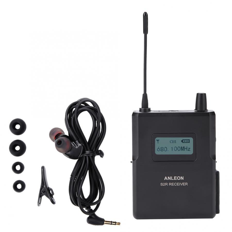 Pour ANLEON S2 R antenne haute sensibilité moniteur de scène sans fil 670 680 MHz/863 865 MHZ récepteur de son clair avec écouteurs-in Accessoires micro from Electronique    1