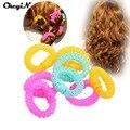 8Pcs/lot Magic Beauty Circles Circle Plastic Hair Rollers Bang curls artifact Curl tool Hair Accessories Hair Styling Tools
