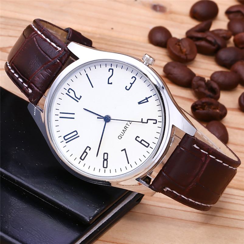 Fashion Men Watches Casual Luxury Leather Band Analog Alloy Quartz Wrist Business Watch Brand Watch Men Clock Relogio Masculino wavors luxury watches women men leather band rome number auto time analog wrist quartz dress watch