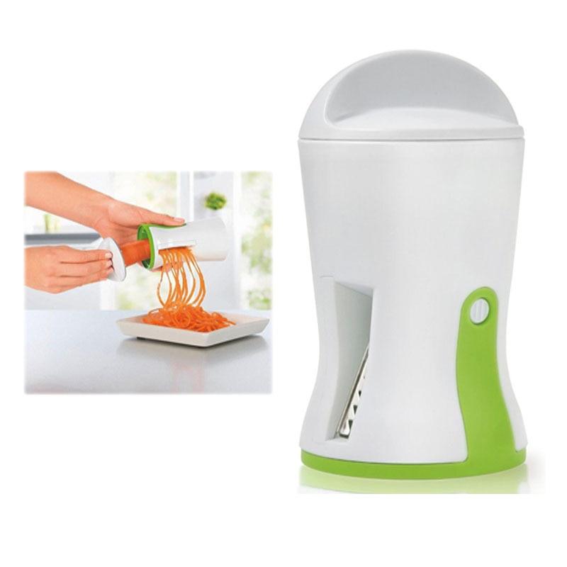 Vegetable Spiralizer Handheld Spiral Slicer Cutter Grater Carrot Slicer Kitchen Gadget Cooking Tools 460719