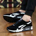 2016 New Men Casual Shoes Fashion Breathable Shoes Grey Black Lacing Flat Shoes Plus Size No Logo EUR 36-45
