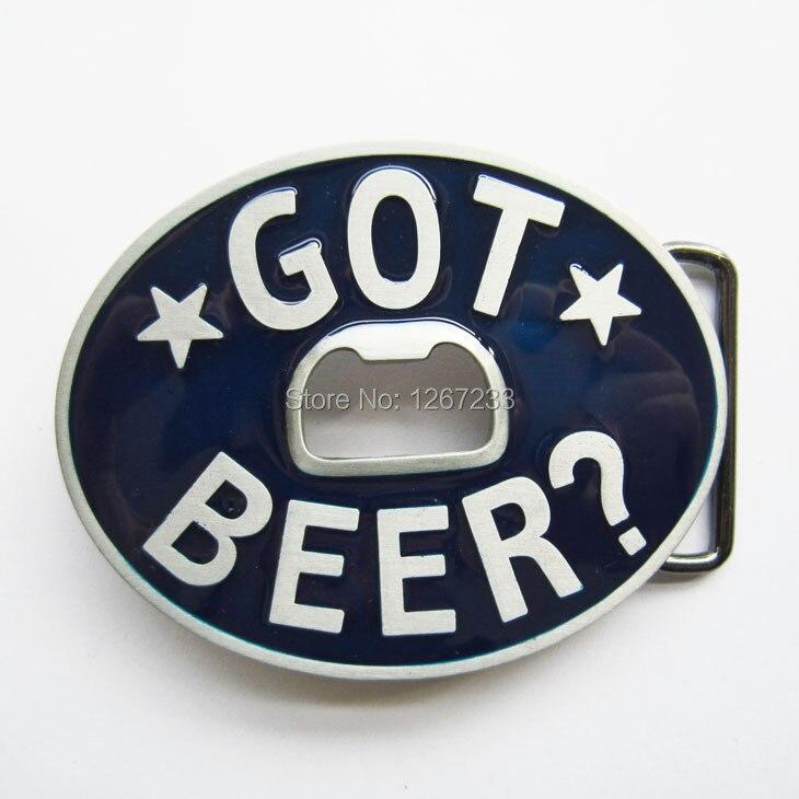 New Vintage Enamel Beer Bottle Opener Belt Buckle