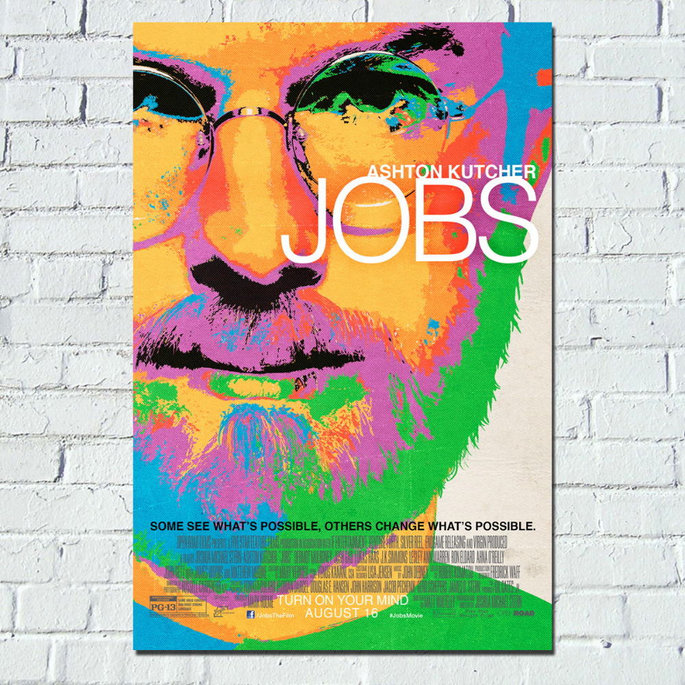 Poster design jobs online - Steve Jobs Movie Colorful Poster Canvas Print Wall Art China