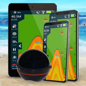 Erchang Portable  Wireless Sonar Sensor Fish Finder for Lake Sea Fishing Sonar Depth Finder Transducer Sonar For Fishing bluetooth fish finder sea fish detect device for ios for android 25m 80ft sonar fishfinder wireless fishing detector top quality