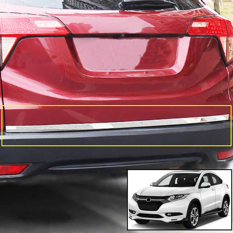 AX Rvs Chrome Kofferbak Tail Gate Deur Strip Cover Trim Molding Bezel Frame Voor Honda HR-V Vezel HRV 2018 2017 2016